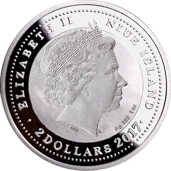 Stroke of Luck 1 oz Proof Silver Coin 2$ Niue 2017