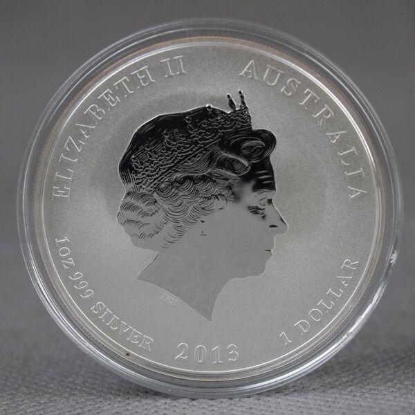 Australia 2013 1$ Year of the Snake Bullion UNC Silver Coin