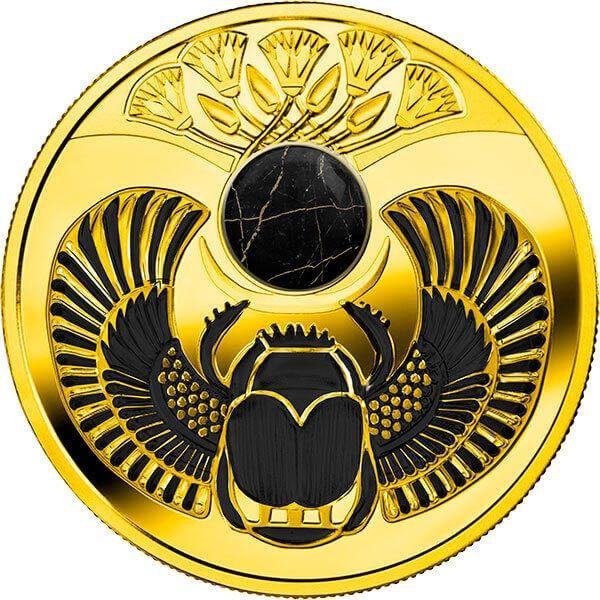 Onyx Scarabaeus Proof Silver Coin 1$ Niue 2019