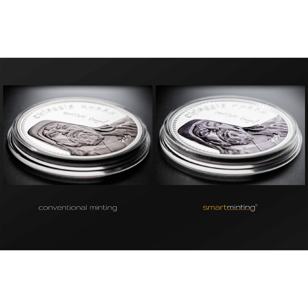 Mongolia 2016 1000 togrog Chinggis Khaan  1oz Proof Silver Coin