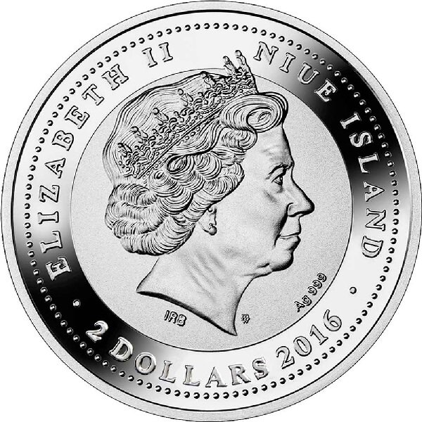 SOS. Venice – End or beginning ?  - Santa Maria Della Salute  Proof Silver Coin 2$ Niue 2016