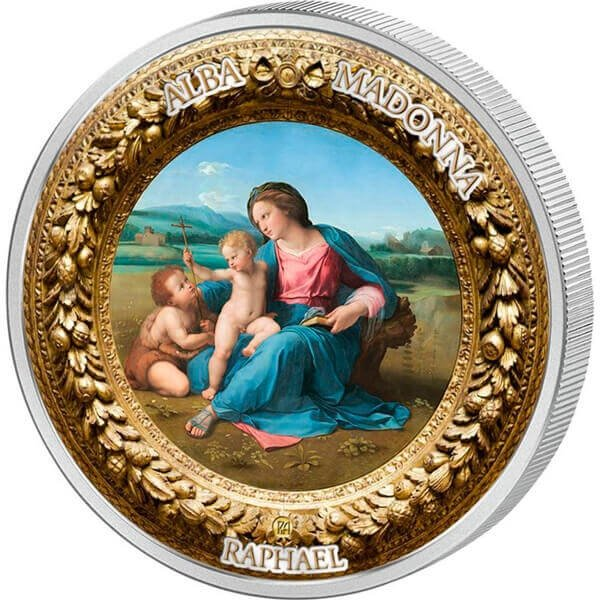 Alba Madonna Perfection in Art 2 oz Proof-like Silver Coin 10$ Niue 2017