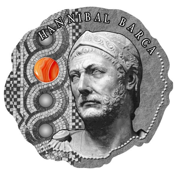 Hannibal Barca Antique finish Silver Coin 500 Francs Cameroon 2020