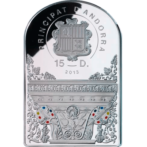 Andorra 2013 15 diners The Christmas Renaissance MadonnaThe Adoration of the Child Proof Silver Coin