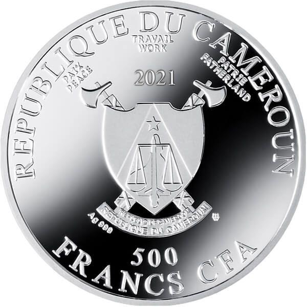 Self Portrait at Twenty Eight Albrecht Dürer Proof Silver Coin 500 Francs CFA Cameroon 2021
