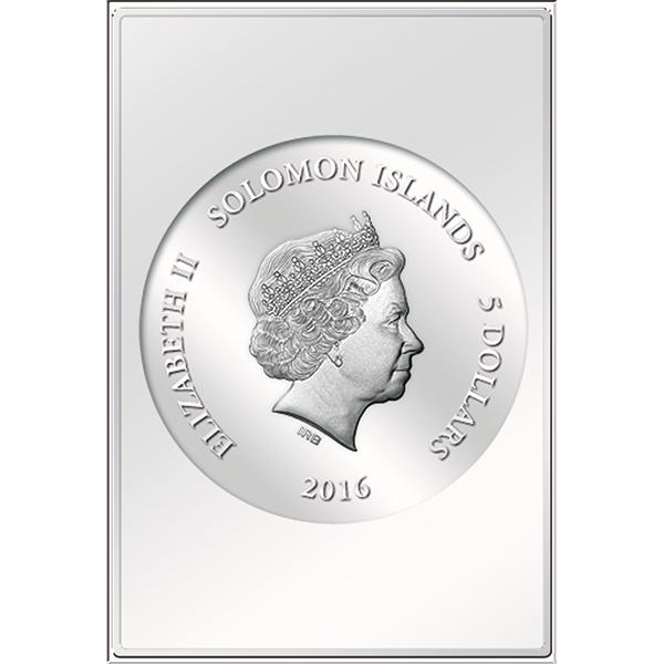 Solomon Islands 2016 8x5$ Opus Magnificum Raphael`s Stanza Della Segnatura Proof-like Silver Coin