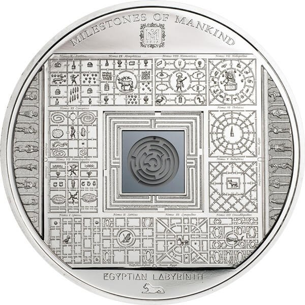 Cook Islands  2016 10$ Milestones of Mankind - Egyptian Labyrinth Proof Silver Coin 50 g