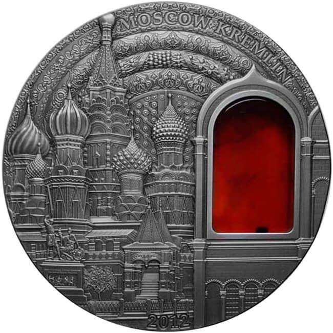 Kremlin Mineral Art 2 oz UNC Silver Coin 10$ Palau 2012
