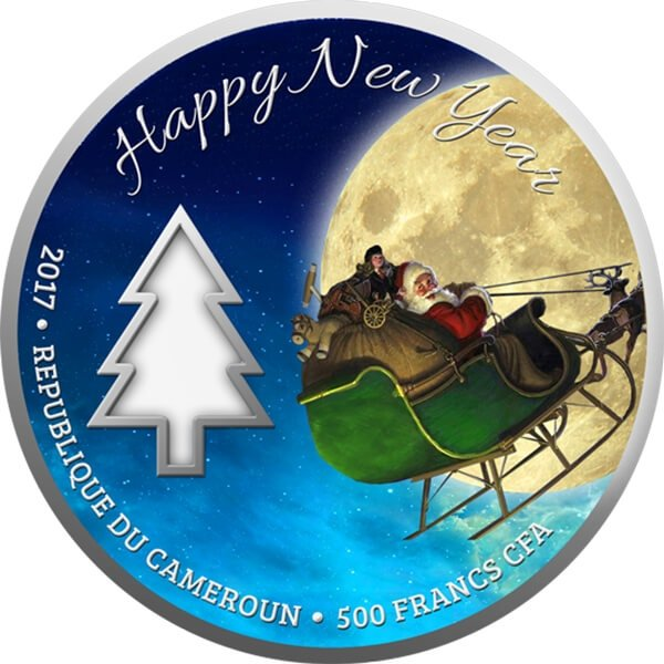 Magic of Christmas Proof Silver Coin 500 Francs Cameroon 2017