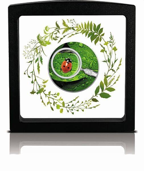 Ladybug The Secret Garden Proof Silver Coin 500 Francs Cameroon 2020