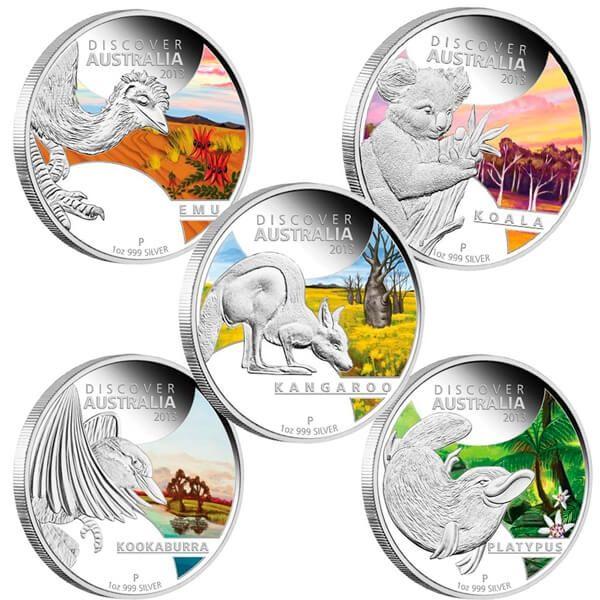 Discover Australia 2012 Proof Silver Set 5 x 1$ Australia 2013