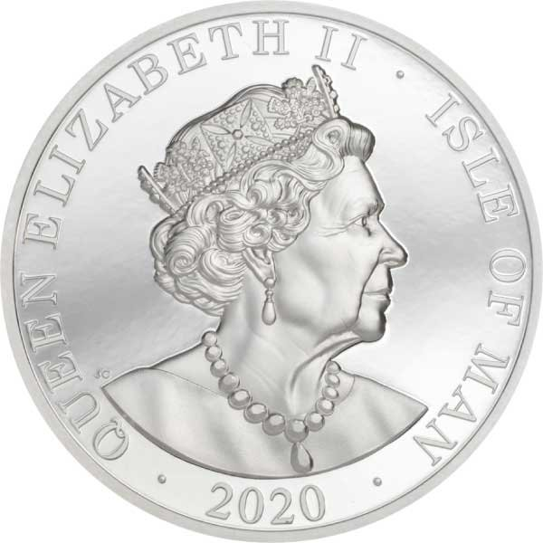 One Noble Piedfort 2 oz Proof Silver Coin Isle of Man 2020