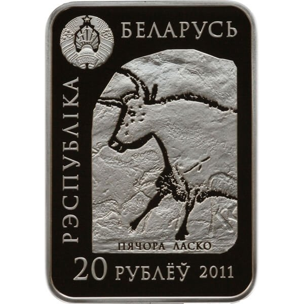 Belarus 2011 20 rubles Paleolithic Venus. Kostyonki, Voronezh Oblast World of sculptures Proof Silver Coin
