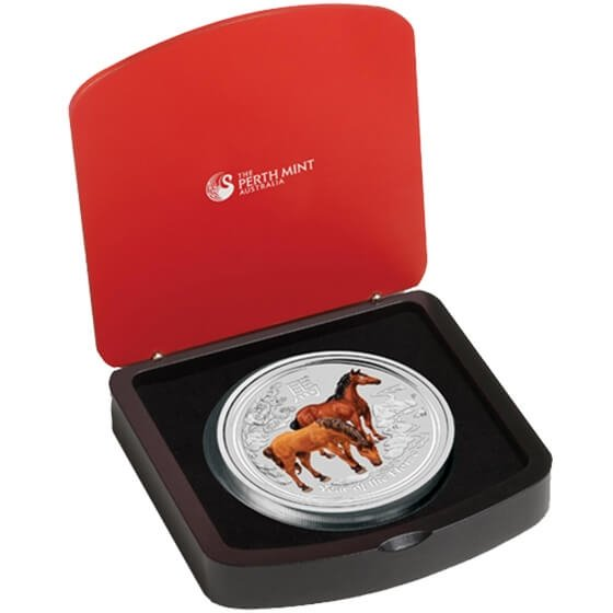 Australia 2014 30$ Australian Lunar Series II 2014 Year of the Horse 1 kg Silver Proof-like Coin