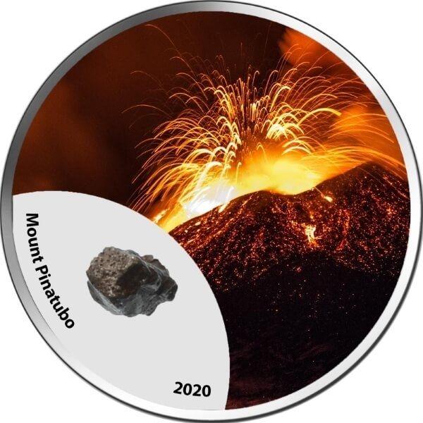Mount Pinatubo Mountains of Fire  1 oz BU Silver Coin 1000 Francs CFA Cameroon 2020