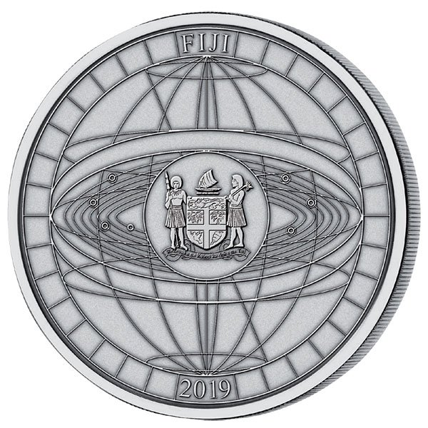 Titans of Spaceflight 500 g Antique finish Silver Coin 10$ Fiji 2019