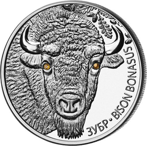 Belarus 2012 20 rubles BISON BONASUS. Bison Proof Silver Coin