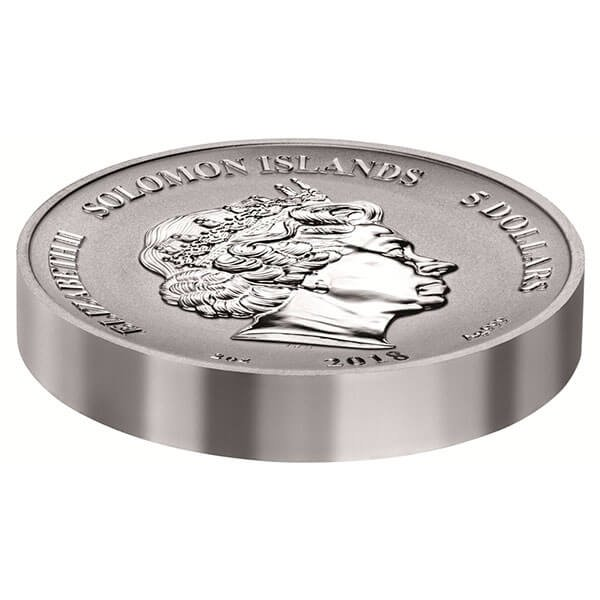Elf Legends and Myths II 2oz Reverse Proof Silver Coin 5$ Solomon Islands 2018