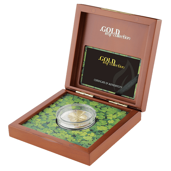 Samoa 2016 5$ Four Leaf Clover 3D Gold Leaves 1 oz Proof Silver Coin