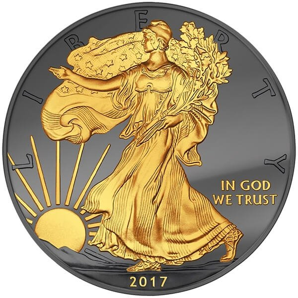Liberty Golden Enigma 1 oz BU Silver Coin 1$ United States 2017