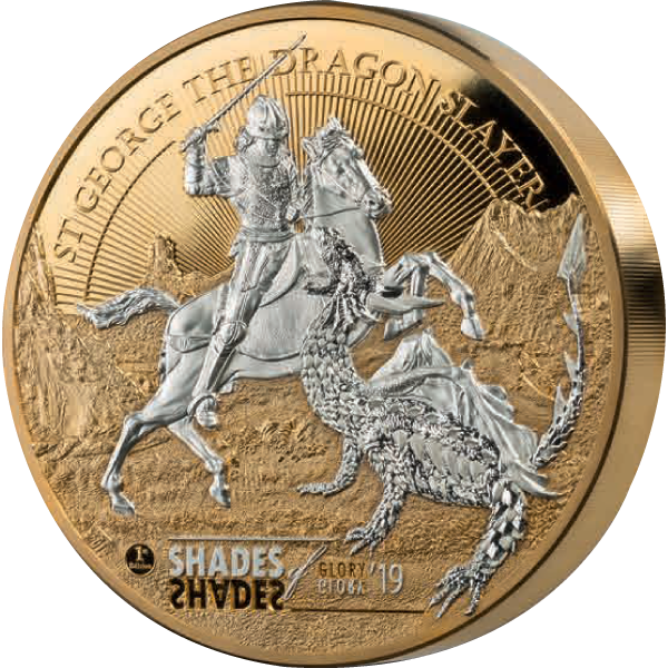 Shades of Glory St. George 1 Kilo Proof-like Silver Coin 100$ Cook Islands 2019