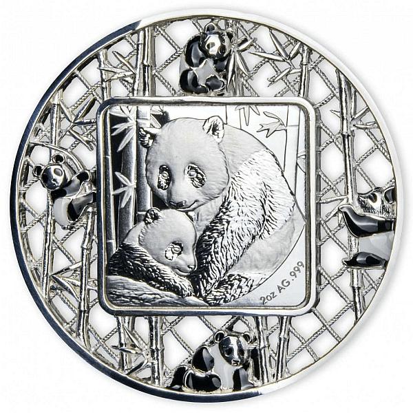 Filigree Panda 2 oz Proof Silver Coin 5$ Solomon Islands 2021