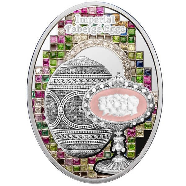 Mosaic Egg Imperial Faberge Eggs Proof Silver Coin 1$ Niue 2018