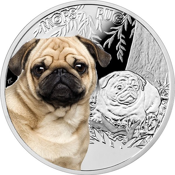 Niue 2015 1$ Pug Man's Best Friends Proof Silver Coin