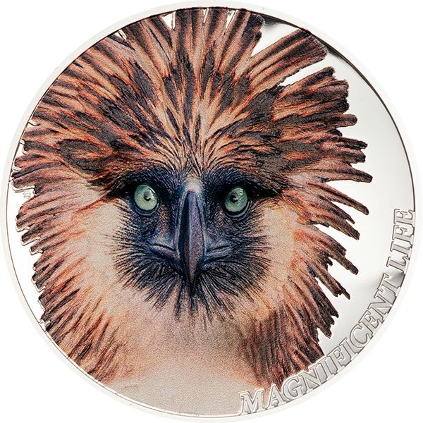 Philippine Eagle Magnificent Life 1 oz Proof Silver Coin 5$ Cook Islands 2019