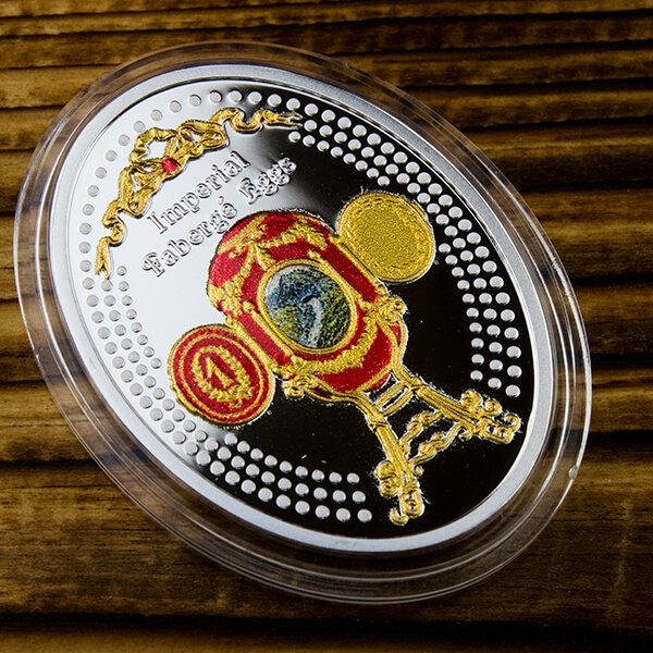 Niue 2015 1$ Caucasus  Egg  Imperial Faberge Eggs Proof Silver Coin