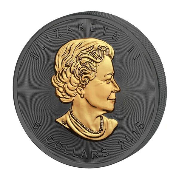 30th Anniversary Maple Leaf Golden Enigma Edition 2018 1 oz Silver BU 5$ Canada 2018