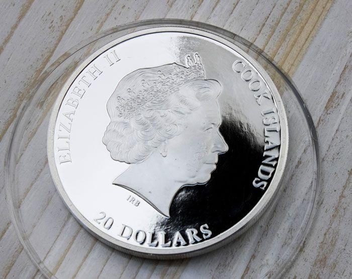 Cook Islands 2010 20$ Three Bogatyrs - Viktor Vasnetsov Masterpieces of Art 3 Oz Proof Silver Coin