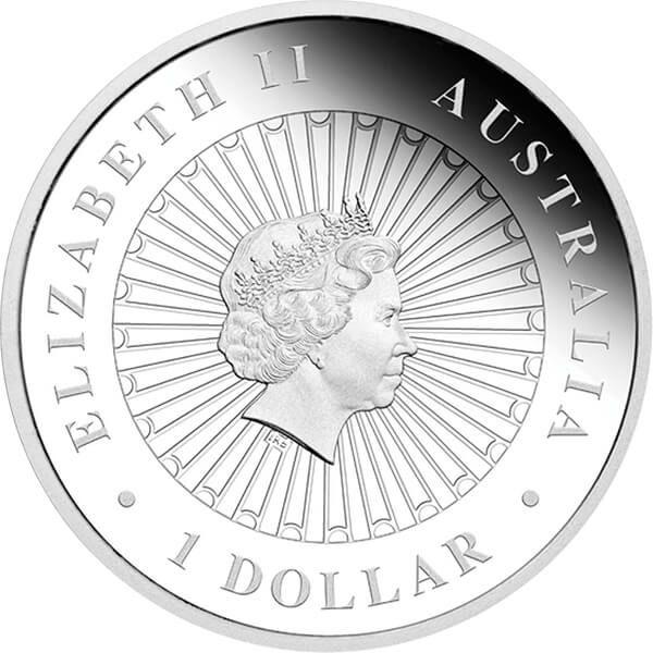 Australia 2013 1$ Pygmy Possum Opal Series Silver Proof Coin