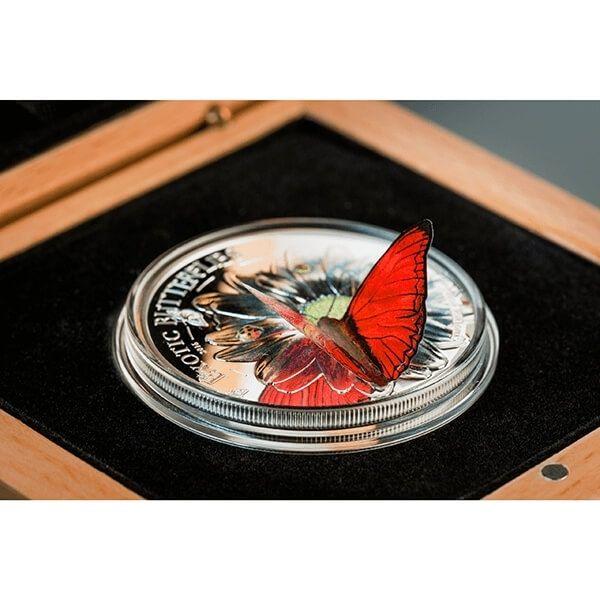 Tanzania 2016 1000 Shillings Butterflies in 3D Cymothoe hobarti Proof Silver Coin