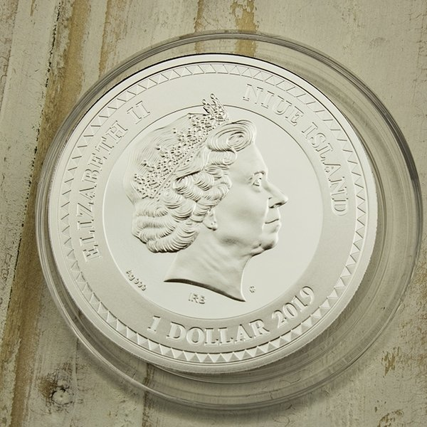 Dahlia The Most Beautiful Masterpieces of God Proof Silver Coin 1$ Niue 2019