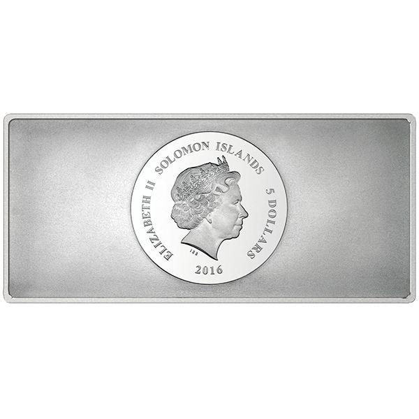 Solomon Islands 2016 5$ Precious 8 in 1 (Eight Precious Metals United In One Coin) 1 oz BU Silver Coin