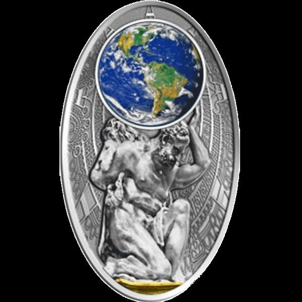 Apocalypse II. 2012 - ATLAS Satined Silver Coin 10$ Fiji 2012