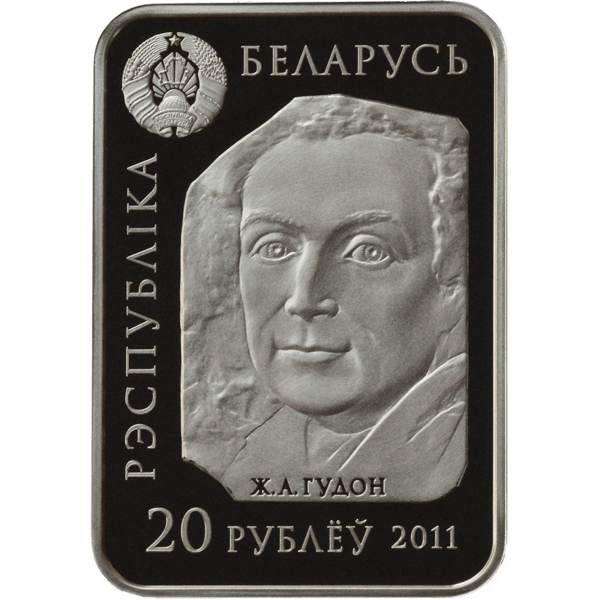 Belarus 2011 20 rubles Voltaire World of sculptures Proof Silver Coin