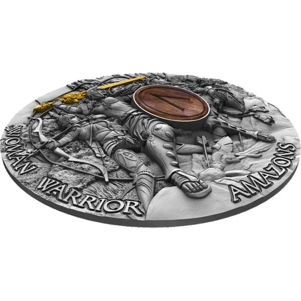 Amazons - Woman Warrior 2 oz Proof Silver Coin 5$ Niue 2019