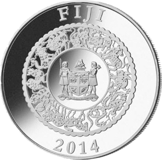Fiji 2014 10$ Year of the Horse - Colored  Lunar 2014  Proof Silver Coin