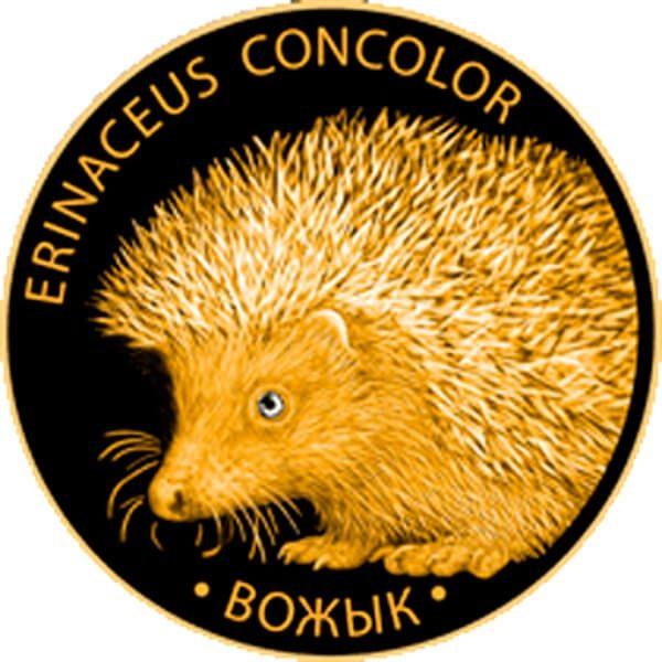 Belarus 2011 50 rubles Hedgehog Proof Gold Coin