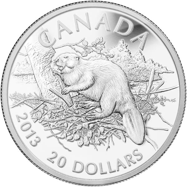 Canada 2013 20$ The Beaver 2013 Proof Silver Coin