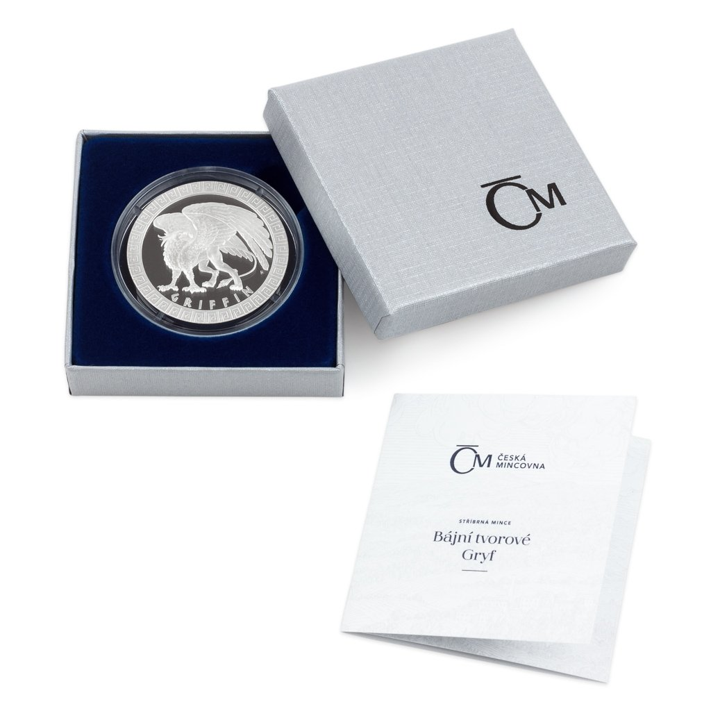Griffin Mythical Creatures 1 oz Proof Silver Coin 2$ Niue 2020