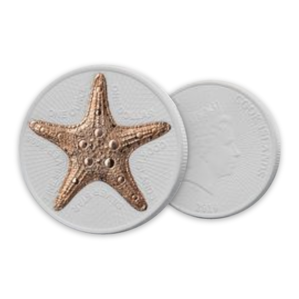 Starfish 1 oz CeCo BU Silver Coin 1$ Cook Islands 2020