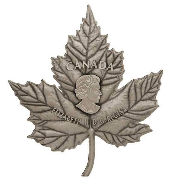 The Very First Maple Leaf - Shaped 1 Kilo Proof Silver Coin 250$ Canada 2017