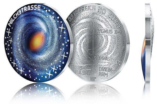 The Milky Way Uncharted Universe Proof Silver Coin 20 Euro Austria 2020