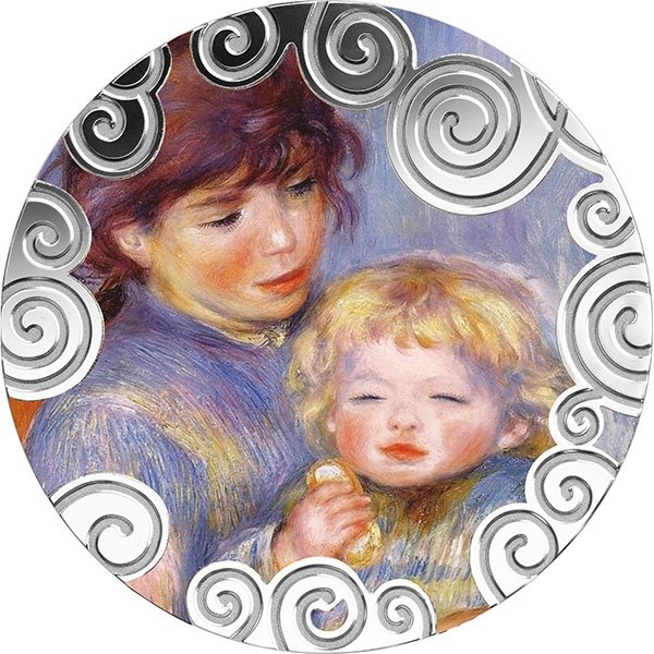 Maternity in Art 1 oz Proof Silver Coin 1000 Francs Cameroon 2019
