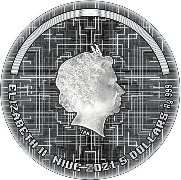 Cyberpunk The Punk Universe 2 oz Antique finish Silver Coin 5$ Niue 2021