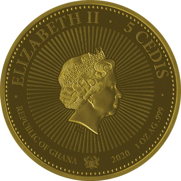 Messengers of Heaven 1 oz Proof-like Silver Coin 5 Cedis Republic of Ghana 2020