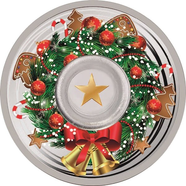 Merry Christmas 1 oz Proof Silver Coin 1000 Francs CFA Cameroon 2019